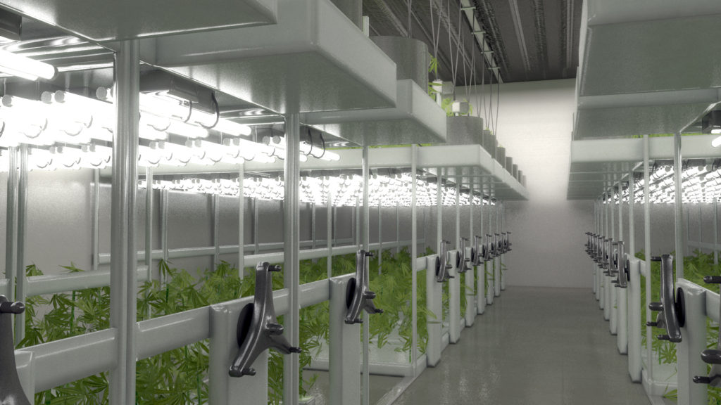 PSI Cannabis Cultivation Facility Grow Room
